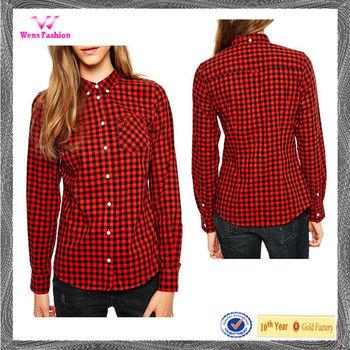 Stylish Check Shirts For Girls