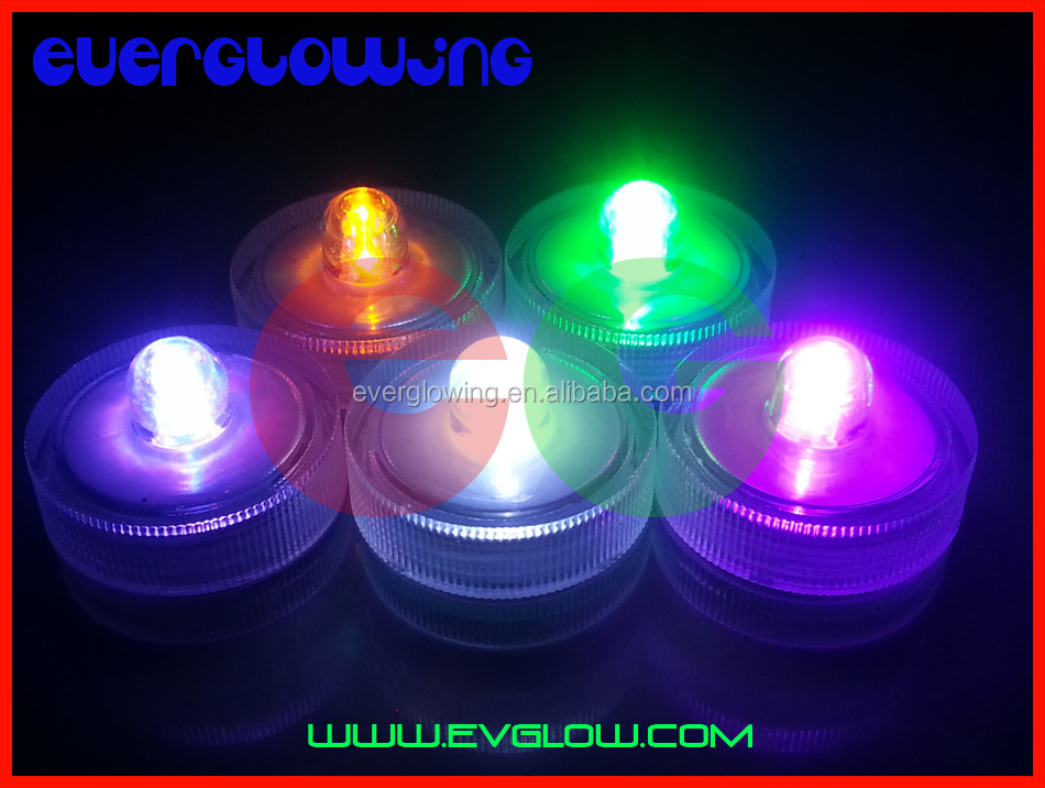 round 8 colors led candle light waterproof
