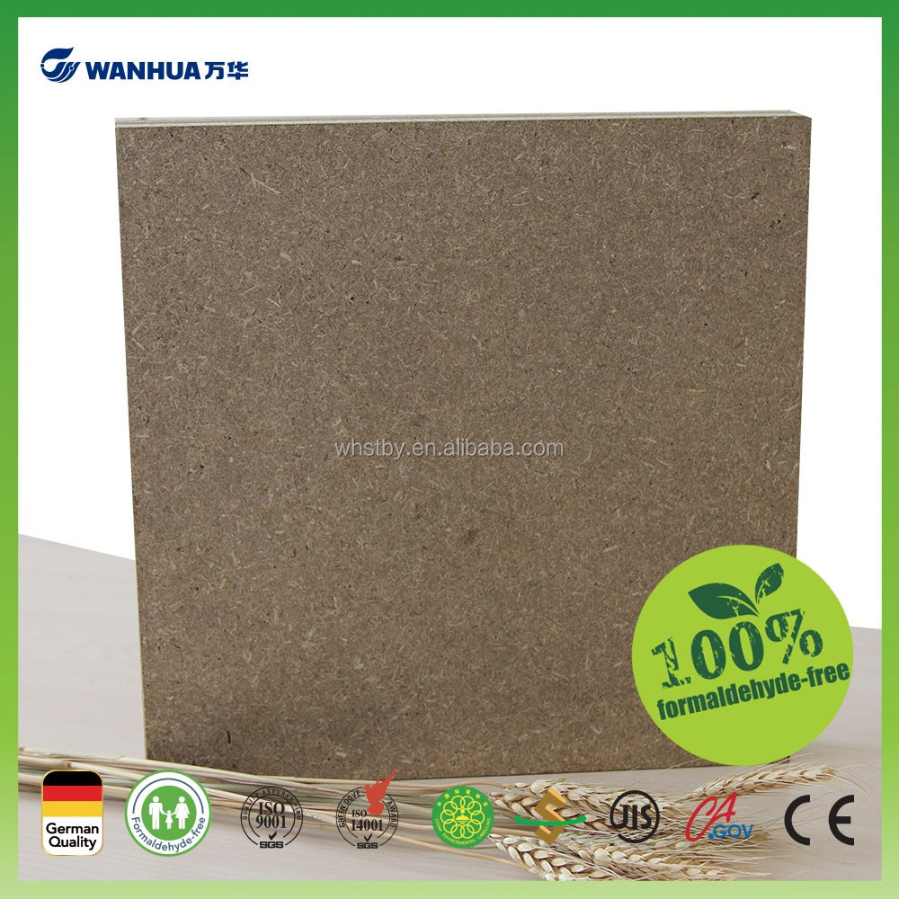 Zero formaldehyde releasing plastic coated mdf board