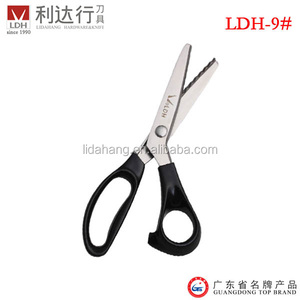 9 inch Stainless Steel Pinking Shear Zig Zag Scissors with Plastic Handle