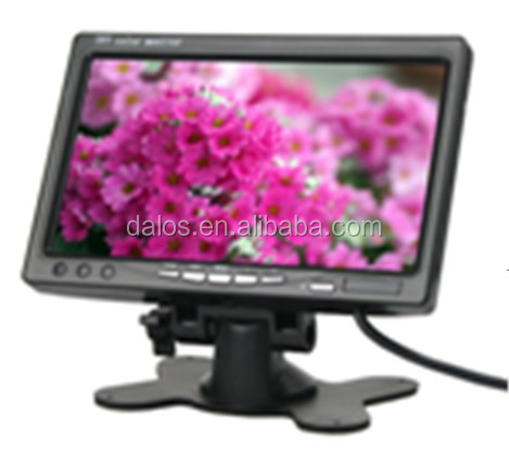 "7"" car lcd monitor with hdmi input with hign definition digital screen"
