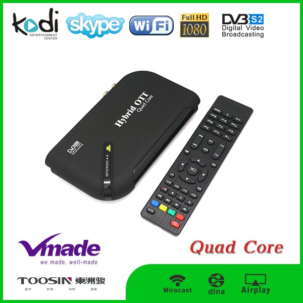 Amlogic s805 quad core bluetooth 4.0 android tv box h.265 set top box dvb s2