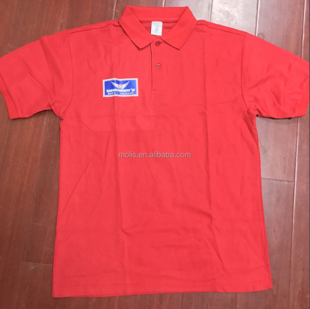 Variety colors high quality polo shirt with collar with customized printing