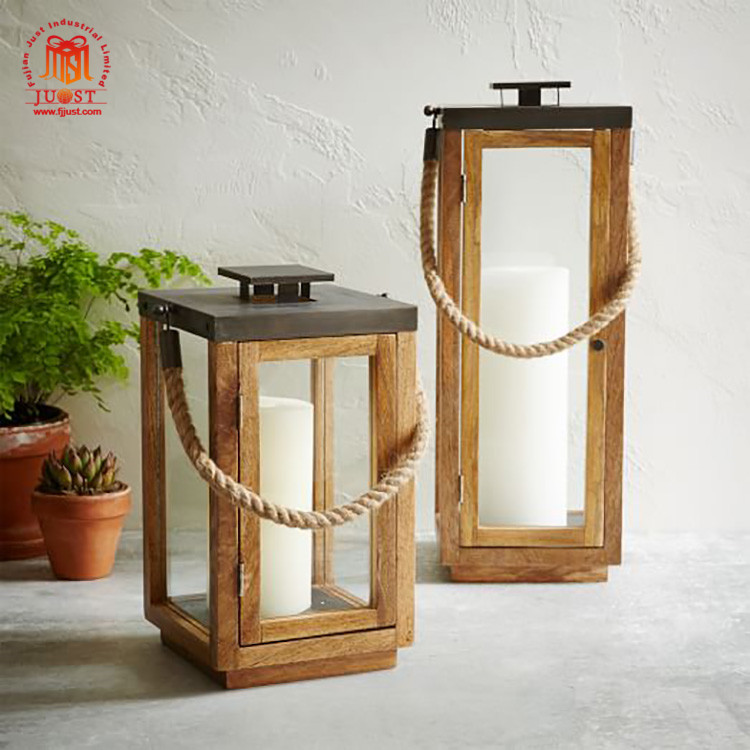 Hot Product Customized Candle Holder Home Wooden Indian Lanterns