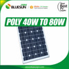 Quality Guarantee 40W solar cells Modules 30V ICE TUV certified
