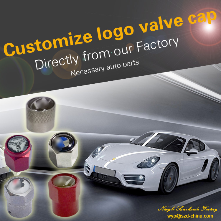 plastic or brass or aluminum alloy cap with car brand logo tire valve cap car