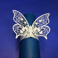 Wedding Butterfly Bulk Wholesale Paper Napkin Ring