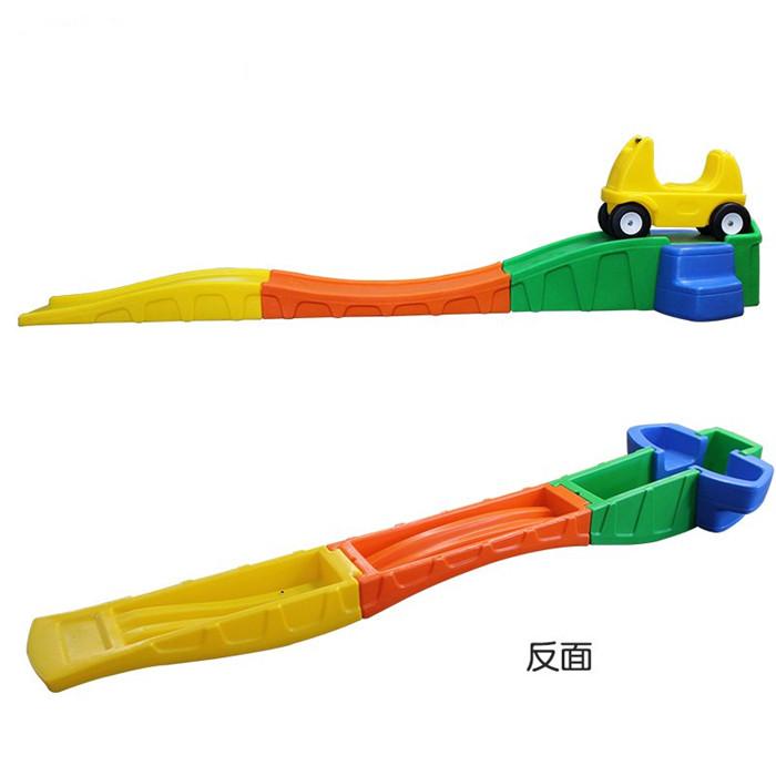 Kids Indoor Outdoor Plastic Roller Coaster 3 Parts Slide ...