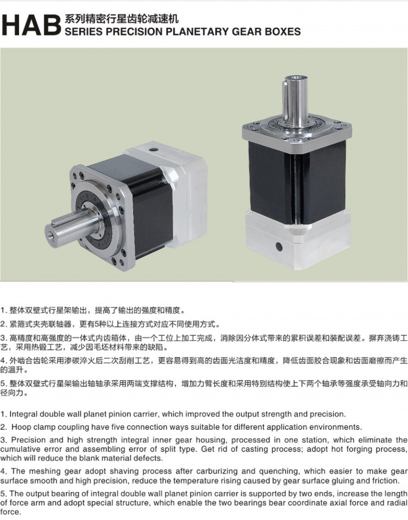 HAB  High Rigidity High Precision Square Housing Series Planetary Gearbox