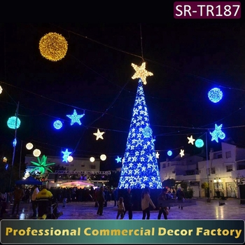 8m 10m giant outdoor christmas tree with led star decoration