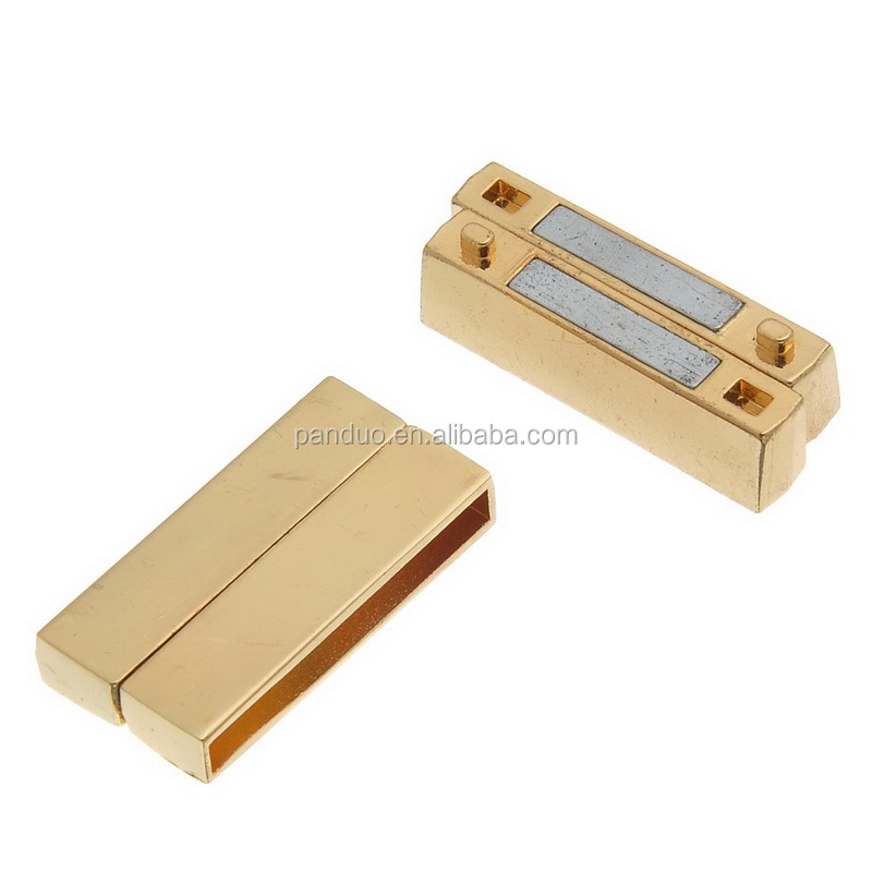 Fashion Jewelry Supplies Rectangle Gold Plated Magnetic Clasps for jewelry making