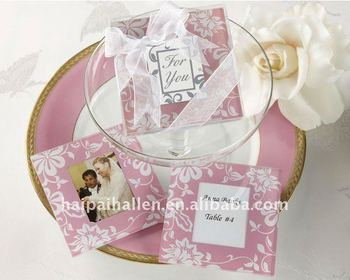 Personalized Glass Coasters With Photo Inserts For Wedding Favors