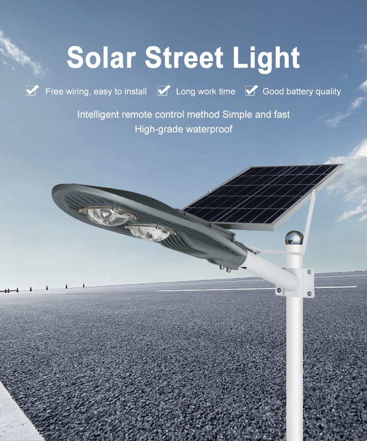 20w 30w 50w 100w Outdoor Ip65 Die-Cast Aluminum Integrated led solar road light