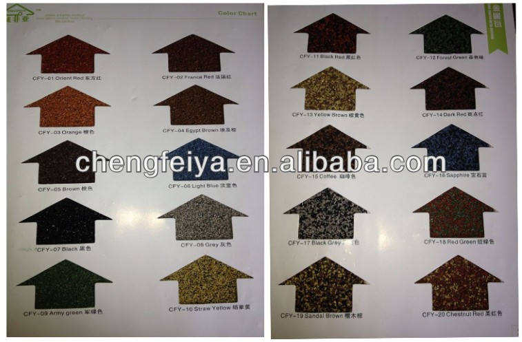 Stone Chips Coated Steel Tile Guangzhou Building Material