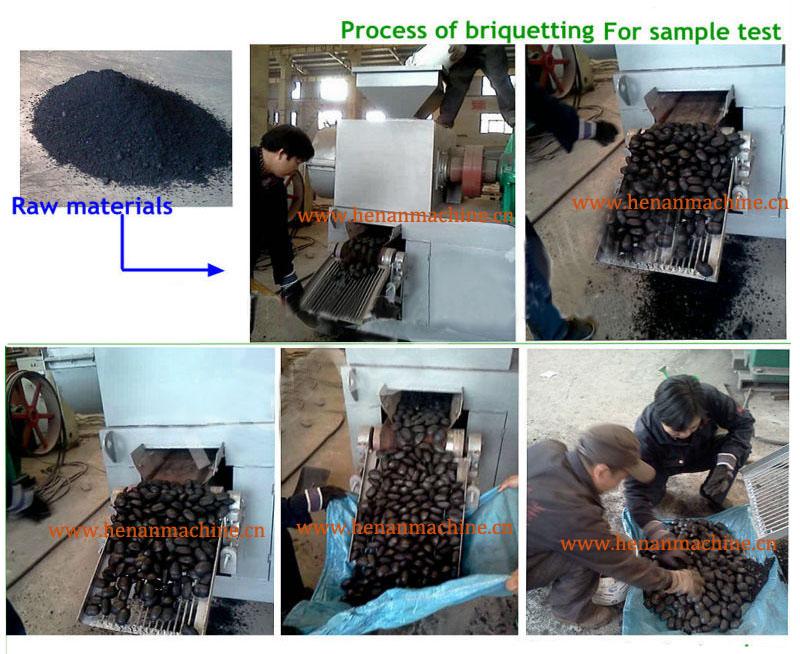 2-30tph Steam Coal Briquette Press Machine With 99.9% Briquetting ...