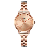 CURREN 9019 Rose Gold Watch Women Watches Stainless Steel Ladies Women's Watch Women Luxury Gold Color Fashion Relogio Feminino