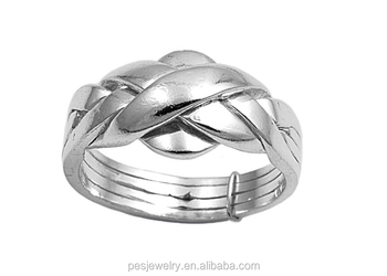 925 Sterling Silver Puzzle Ring