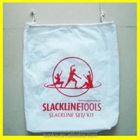 Custom White Cotton Canvas Fabric Shoe Bag Dust Bag