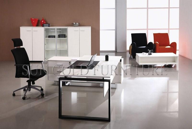 Modern Contemporary White Office Desk