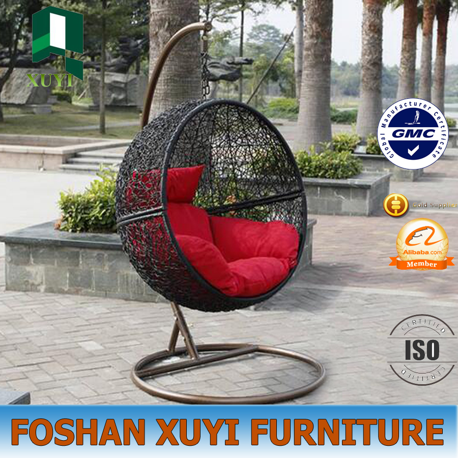 New design patio or indoor decorative furniture rattan swing hanging chair
