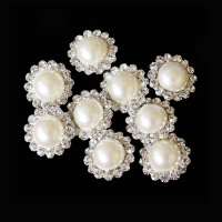 wholesale bulk cheap small rhinestone pearl brooch for wedding invitation decors