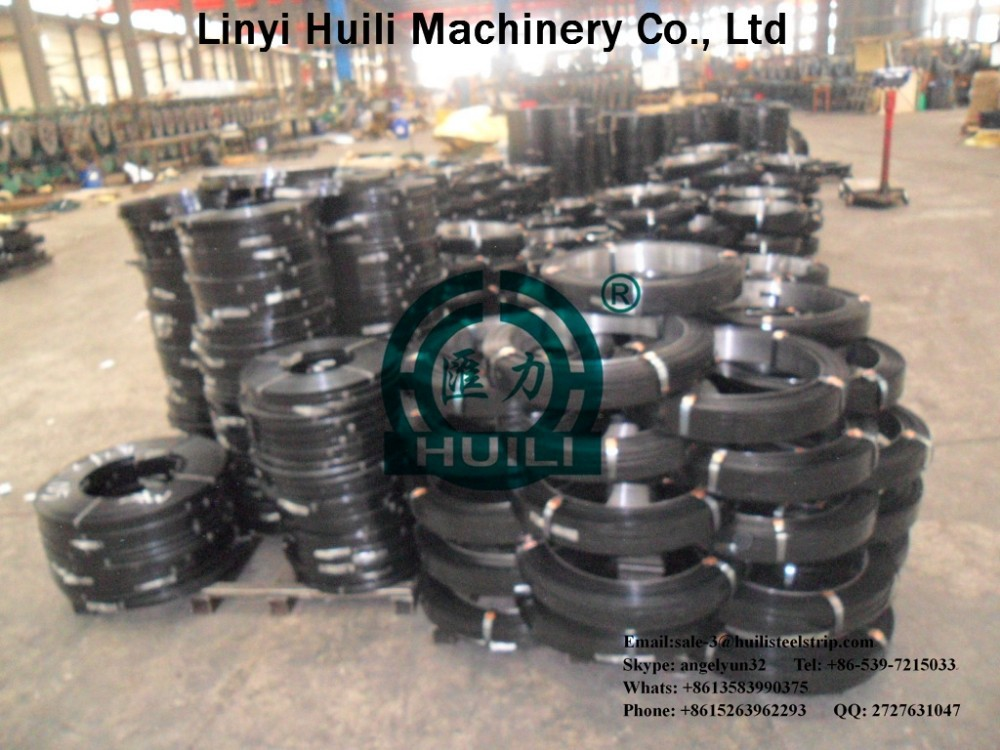 Paint steel strips,cold roll steel strapping.Q345(0.36*12.7mm)mechinery packing
