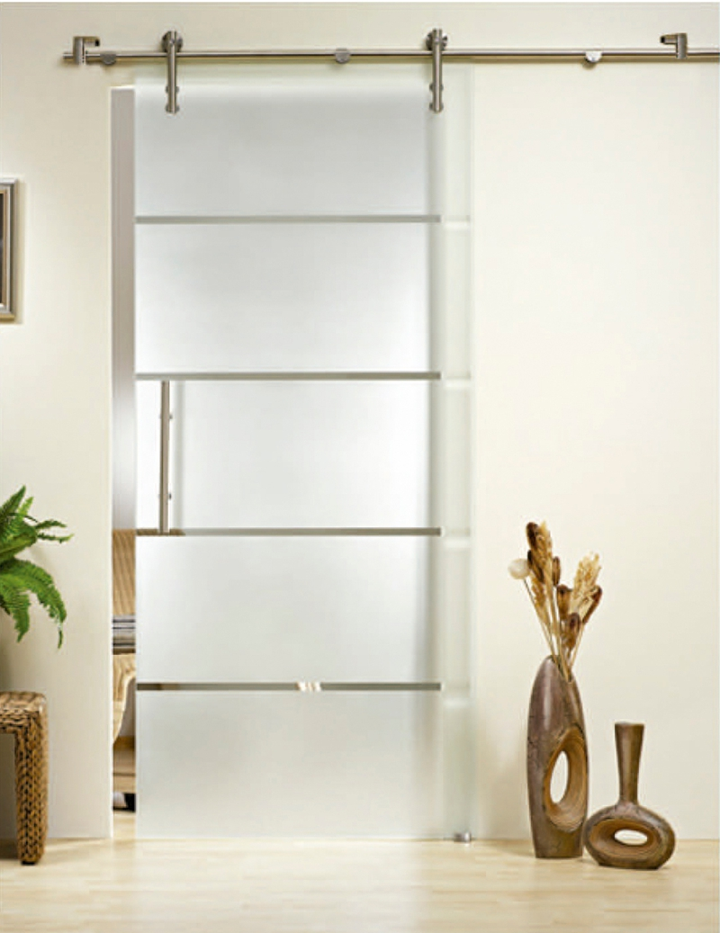 Frameless Large Interior Glass Sliding Shower Barn Doors Kt9002