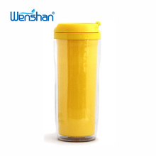 plastic Double wall advertising 12oz travel mug with Lid