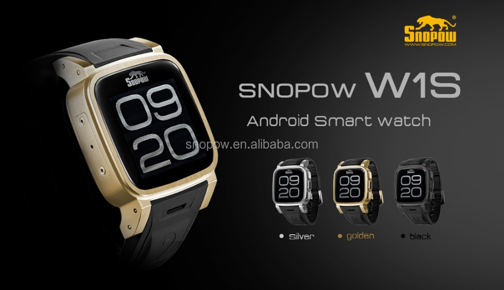 2015 high quality SNOPWO w1s android 4.4 ip68 wrist waterproof 3G wifi GPS 3G smart hand watch mobile phone