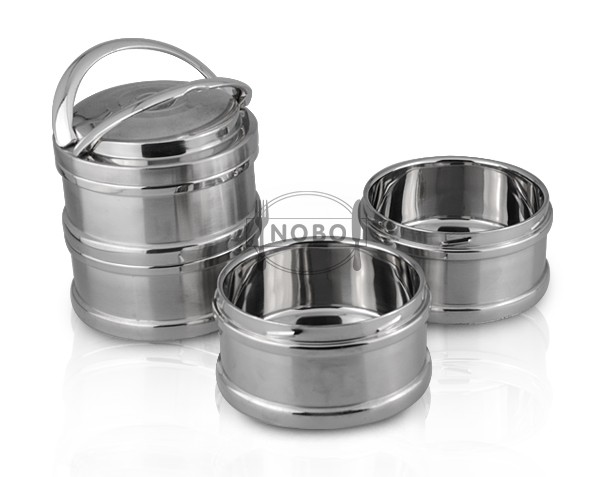 wholesale stainless steel buffet food sampling container for food with dividers