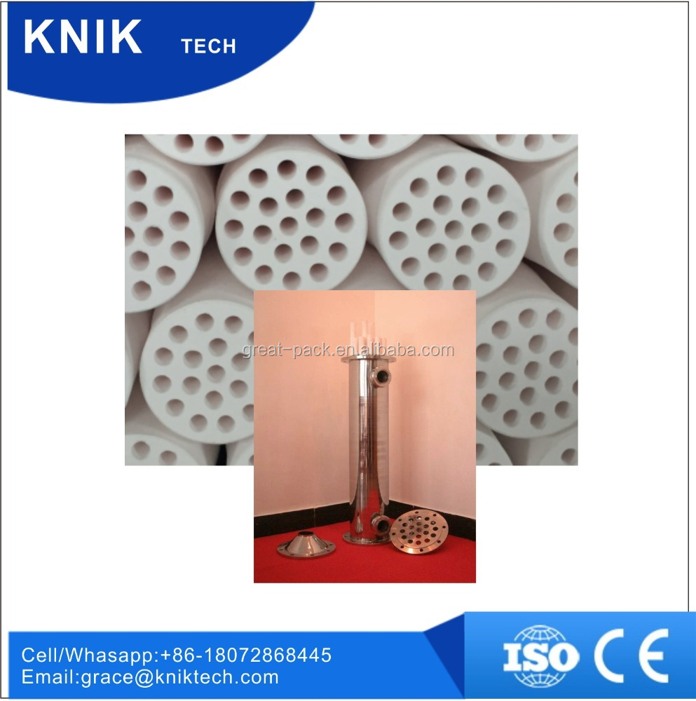 Inorganic Ceramic Membrane technology for cross flow filtration or membrane filter price and water membrane