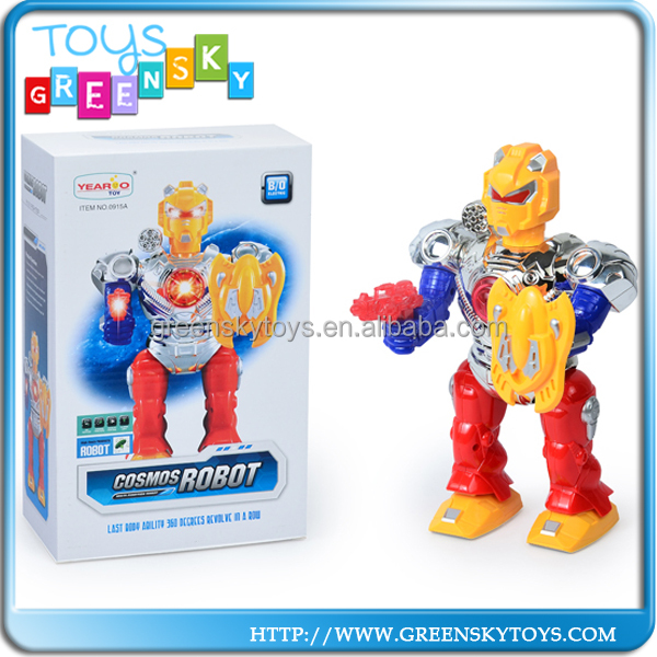 Enfants en plastique battery operated robot jouet