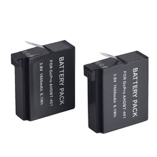 New 2015 Best Sell Gopro HERO 4 Camera 1600mAh 2pcs x Replacement Battery For AHDBT-401 Battery Pack for Gopro HERO 4 HD Camera