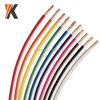 Red Black Color Code 16 18 Awg 24 Awg 26 Awg Pvc Insulated Single ...