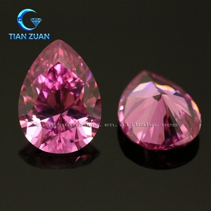 Wholesale 5A Pear Rose Red Signity CZ/ Cubic Zirconia for Jewelry