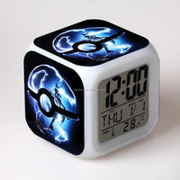 cheap led alarm clock digital table clock with colorful night light dask top alarm clock