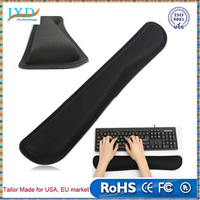 Black PC Keyboard Raised Hands Wrist Rest Support Comfort Pad