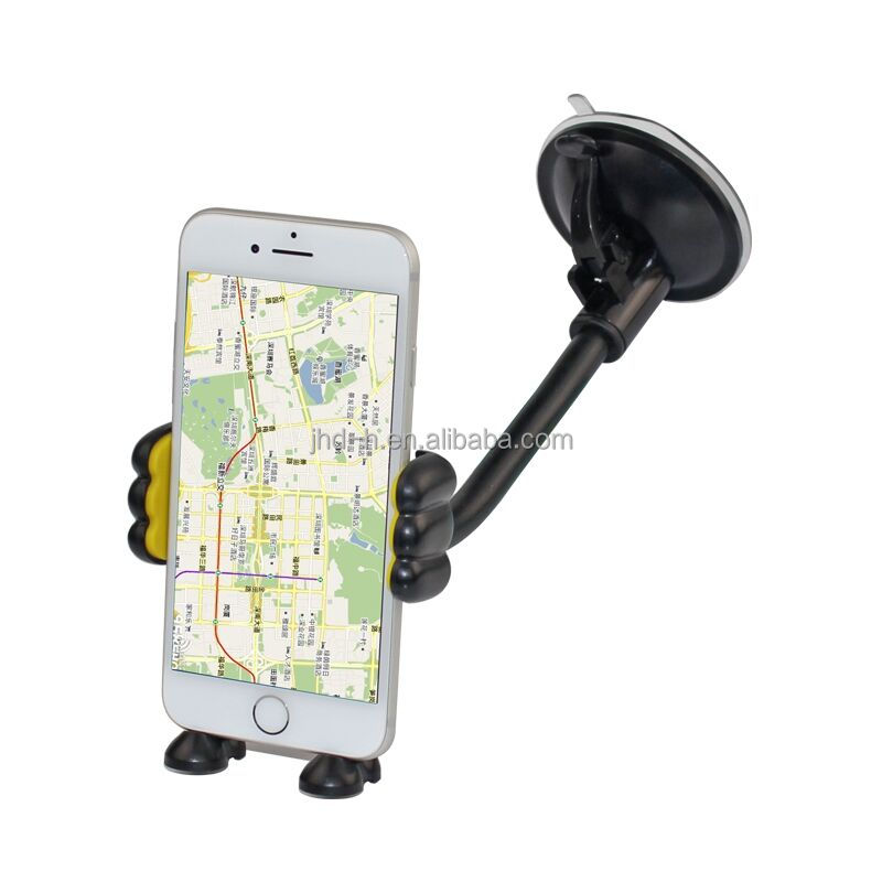 Long Arm/Neck 360 degree rotation Car Mount Universal mobile phone holder