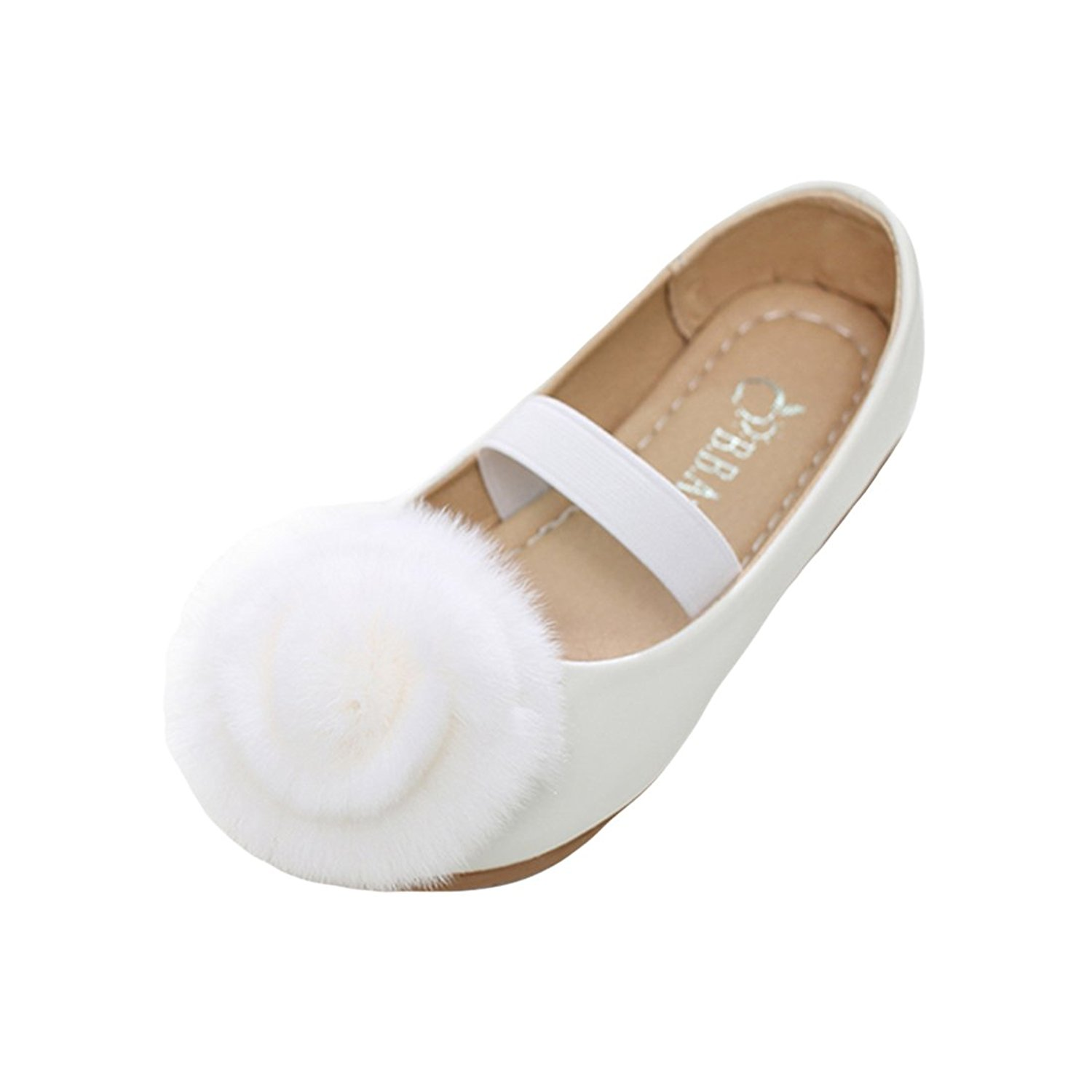 O&N Girls Kids Children Princess Wedding Party Bridesmaid School Shoes Ballet Flats Mary Janes