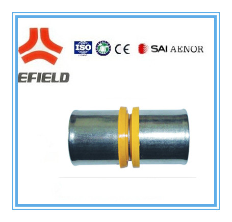high quality copper crimp joints for PEX pipe, AL-PEX pipe, plumbing crimp brass connectors with WATERMARK