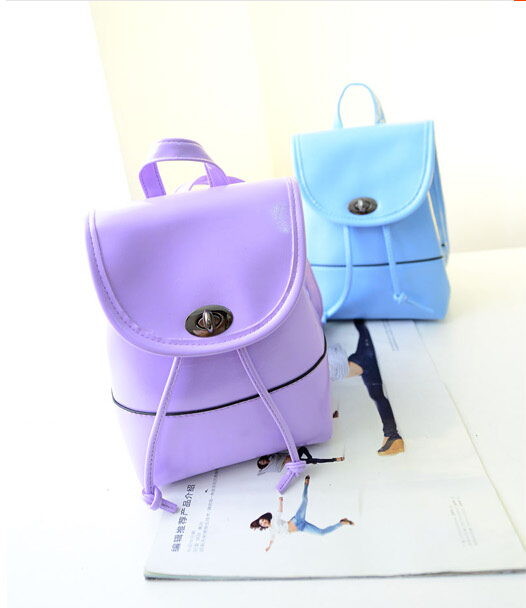 Mochila Mochila Feminina 2015 New Fashion Mini Sweet Small Backpack Bag Women Korean Leisure Leather Pouches Trend Bag Backpack