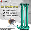 2hp slurry sucker pump for waste water non clog sewage pump vertical mud pump