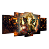 HD Printed 5 Piece Canvas Art Hindu God Ganesha Elephant Painting Wall Pictures for Living Room Modern Canvas Wall Painting