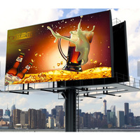 High Brightness Outdoor led screen p6mm HD Video Big Advertising LED TV Wall Price In Korea