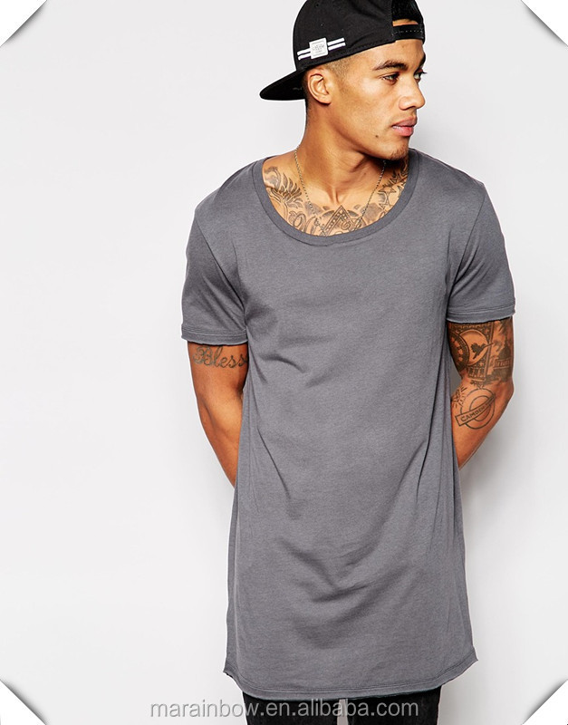 Hot Sale Mens 100% Polyester Dry Fit Short Sleeve Longline T Shirt ...