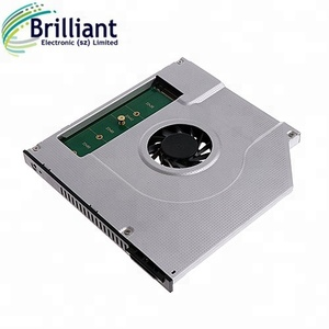 M. 2 (NGFF) SSD 2nd hdd caddy with a Cooling Fan for laptop