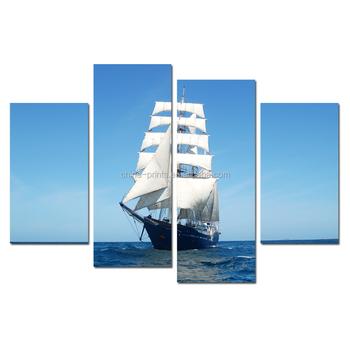 Yelkenli Gemi Tuval Baskı Sanattekne Deniz Tuval Boyamadeniz