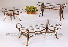 wrought iron furniture tea table/end table best-selling metal furniture