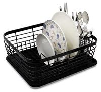 Easypag Painting dish rack square metal wire kitchen organizer dish rack withdraining board and spoon holder