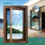 ROOMEYE double glazed aluminum wooden window frames designs